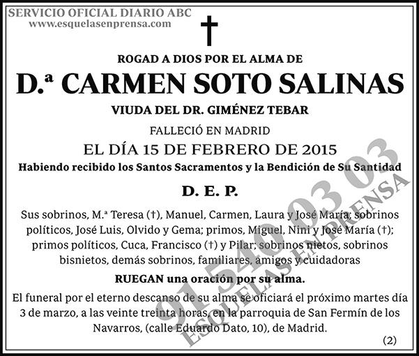 Carmen Soto Salinas